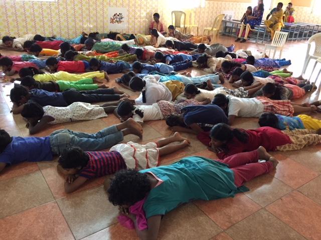 Yoga at Orphanage 1